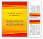 Abstract/Textures: Bright Orange Background Word Template #15229