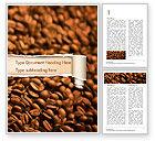 Food & Beverage: Verschwommene kaffeebohnen Word Vorlage #15239