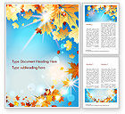 Nature & Environment: Beautiful Sunny Autumn Word Template #15240