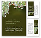 Nature & Environment: Leaf and Water Drops Word Template #15253