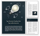 Business Concepts: Creative Rocket Light Bulb Word Template #15261