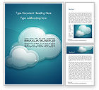 Nature & Environment: Turquoise Sparkling Clouds Word Template #15264