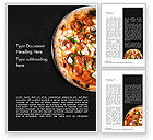 Food & Beverage: Pepperoni Pizza Word Template #15269