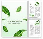3D: 워드 템플릿 - 녹차 잎 #15273