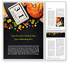 Holiday/Special Occasion: Halloween Sweets Word Template #15275