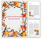 Holiday/Special Occasion: Halloween Decorations Word Template #15276