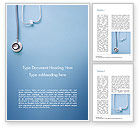 Medical: Stethoscoop Word Template #15279
