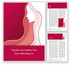 Careers/Industry: Woman Silhouette Word Template #15284