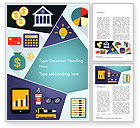 Financial/Accounting: Financiële Pictogrammen Word Template #15285