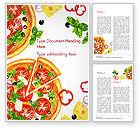 Food & Beverage: Margarita-pizza Word Vorlage #15286