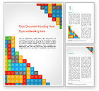 Education & Training: Lego Background Word Template #15287