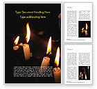 Holiday/Special Occasion: Burning Candles Word Template #15288