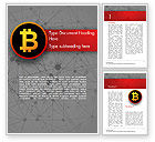 Technology, Science & Computers: Bitcoin-pictogram Word Template #15290