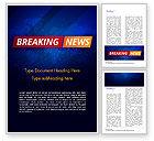 Careers/Industry: Breaking News Background Word Template #15291