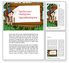 Education & Training: Girl Scout Word Template #15292