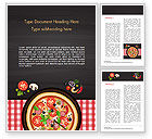 Food & Beverage: Pittige Garnalen Pizza Word Template #15303