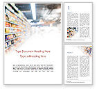Careers/Industry: Supermarkt Word Template #15315