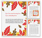 Nature & Environment: Herfst Eikenbladeren Word Template #15320