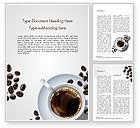Food & Beverage: Witte Kop Koffie Word Template #15328