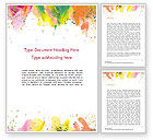 Art & Entertainment: Colored Paint Strokes Word Template #15335
