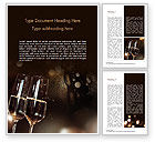 Holiday/Special Occasion: Vieren Met Champagne Word Template #15337