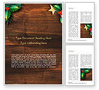 Holiday/Special Occasion: Templat Word Mistletoe Natal #15338