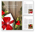 Holiday/Special Occasion: Leuk Kerstcadeau Word Template #15340