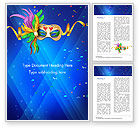 Holiday/Special Occasion: Carnival Mask Word Template #15342