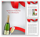 Holiday/Special Occasion: Viering Met Champagne Word Template #15343