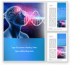 Medical: Brain Work Concept Word Template #15347