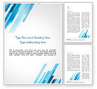 Abstract/Textures: Abstraction with Blue Parallelograms Word Template #15349