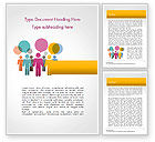 Business Concepts: Humans with Speech Bubbles Word Template #15352