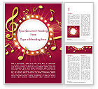 Art & Entertainment: Music Show Background Word Template #15355