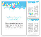Holiday/Special Occasion: Baby Clothes Illustration Word Template #15359