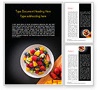 Food & Beverage: Fruit Salad Word Template #15360