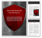 Careers/Industry: Red Shield Word Template #15362