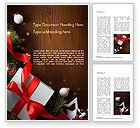 Holiday/Special Occasion: Christmas Gift Box Word Template #15364