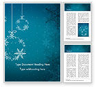 Holiday/Special Occasion: Snowflakes Crystal Balls Word Template #15367