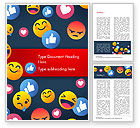 Careers/Industry: Smiley Background Word Template #15368