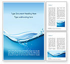 Nature & Environment: Drinking Water Supply Word Template #15369