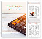 Financial/Accounting: Calculator Word Template #15371