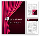 Art & Entertainment: Theater Curtain Word Template #15376