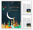 Religious/Spiritual: Eid al-Adha Theme Word Template #15377