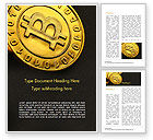 Technology, Science & Computers: Bitcoins on Circuit Board Word Template #15387