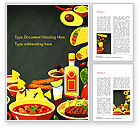 Food & Beverage: Mexican Food Word Template #15396