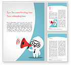 Careers/Industry: Man with Megaphone Word Template #15407