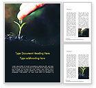Agriculture and Animals: Plantilla de Word - regar la planta joven #15415