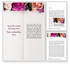 Holiday/Special Occasion: Modelo do Word - bloco de notas decorado com flores #15424
