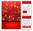 Holiday/Special Occasion: Heart Shaped Red and Yellow Lights Word Template #15428