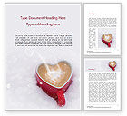 Holiday/Special Occasion: Heart Shaped Coffee Mug Word Template #15440